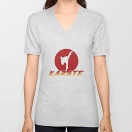Karate Fighting Present Gift Self Defense Unisex V-Neck