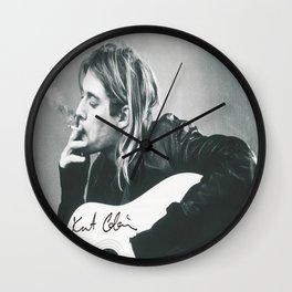 Kurt Co-bain Kraft Paper Poster Home Decoration Painting Room Wall Sticker Wall Clock