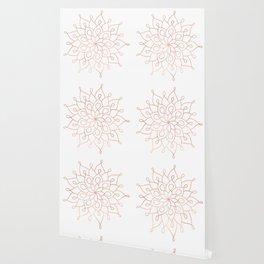 Mandala Rose Gold Pink Star Wallpaper