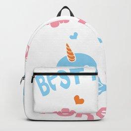 Cute Kawaii Narwhal Unicorn Bff Best Friends Forever Shirt Backpack