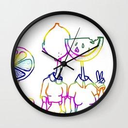 Lemon Head Wall Clock
