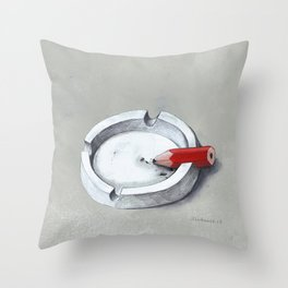 Burnout Throw Pillow