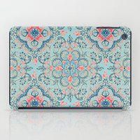 bedding iPad Cases featuring Gypsy Floral in Red & Blue by micklyn