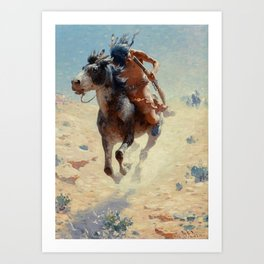 "William Leigh Western Art ""Indian Rider"" Art Print"