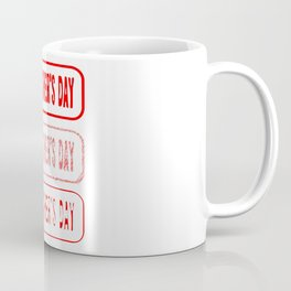 Fathers Day Rubber Stamp Collection Coffee Mug