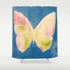 Blue Butterfly Shower Curtain