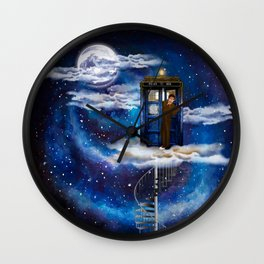 Live on the cloud in the BOX Doctor who iPhone 4 4s 5 5c 6 7, pillow case, mugs and tshirt Wall Clock