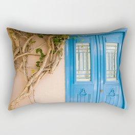 Blue Door in Chania, Crete Rectangular Pillow