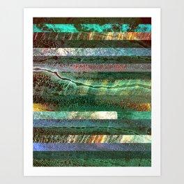 River Strata 1 Art Print