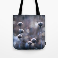 Copper Field Evening Frost Tote Bag