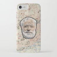 hemingway iPhone & iPod Cases featuring Ernest Hemingway by steam