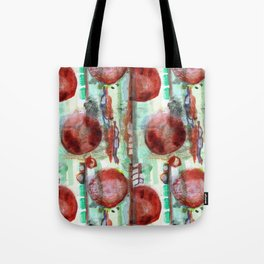Festive red and green Tote Bag