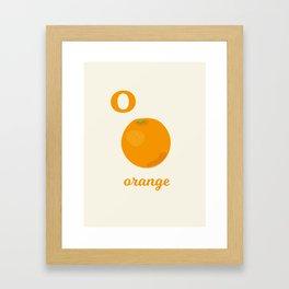 O is for orange Framed Art Print