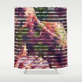 Acid Stained Shower Curtain