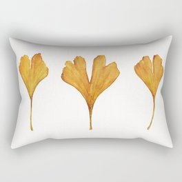 Three Ginkgo Leaves Rectangular Pillow