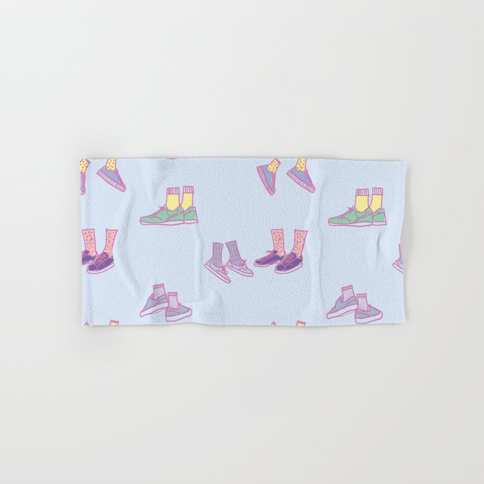 Pastel Walking Sneakers Hand & Bath Towel