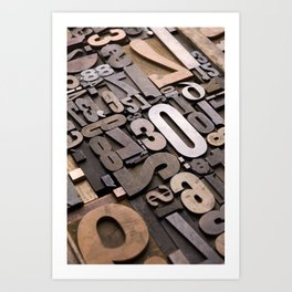 Numbers - Typography Photography™ Art Print