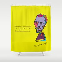 van gogh Shower Curtains featuring Van gogh by PINT GRAPHICS
