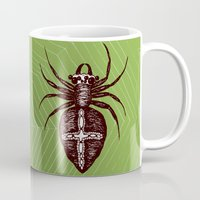 spider Mugs featuring Spider by Bwiselizzy