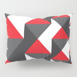 Geometric Pattern #20 (red triangles) Pillow Sham