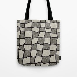 Swirly Tweed Check Design - Beige Tote Bag