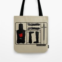 kit king Tote Bags featuring Knight kit by le.duc