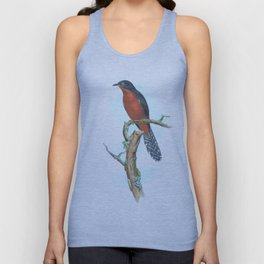 Chestnut Breasted Cuckoo, tropical bird in the nature of Australia & Indonesia Unisex Tank Top
