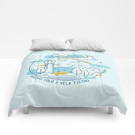 GVVT - Line art colors version Gruppo Volo a Vela Ticino Comforters