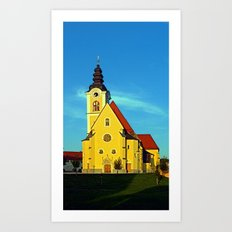 The village church of Sankt Marienkirchen | architectural photography Art Print