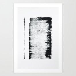 Black and White Minimal Abstract Art Print