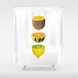 Mixed Fruits Shower Curtain