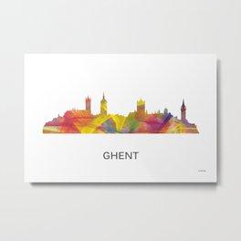 Ghent, Germany Skyline WB1 Metal Print