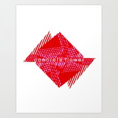 CONCRETE FLOWER Art Print