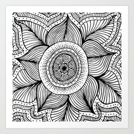 Doodle Flower Art Print