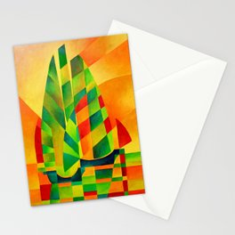 Chinese Junks, Sunset, Sails and Shadows Stationery Cards