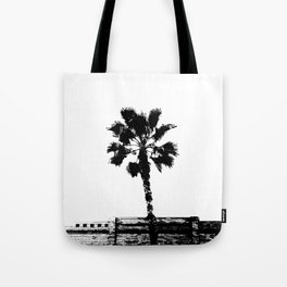 Black & White Palm Tote Bag