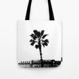 Black & White Palm Tote Bag