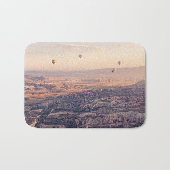 Sunrise Hot Air Balloon Flight Bath Mat