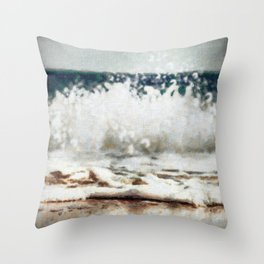 Sea Wave print Throw Pillow