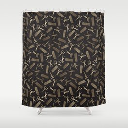 Scissors and Combs Shower Curtain