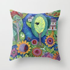 Summer Calling Throw Pillow