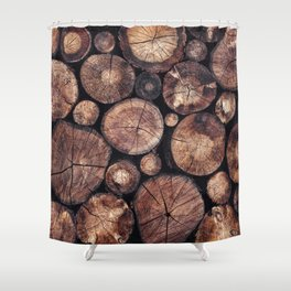 The Wood Holds Many Spirits Shower Curtain