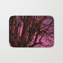 Spooky Trees - Pink  Bath Mat