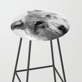 Black and White Wolf Bar Stool