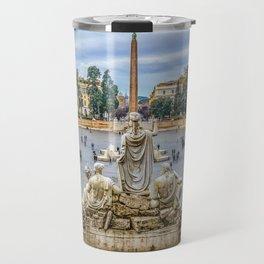 Piazza del Popolo, Rome, Italy Travel Mug