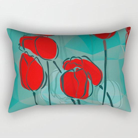 Abstract Tulips Rectangular Pillow