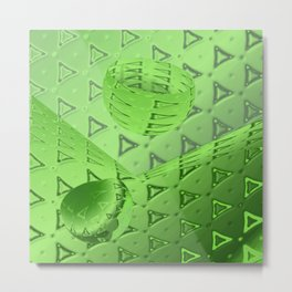 Green 3d Abstract Metal Print