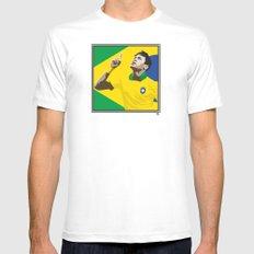 Neymar Brasil 2 MEDIUM White Mens Fitted Tee