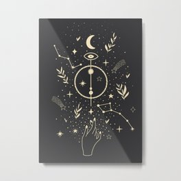 Abstract Icons and Energy Hanging Around at Night Metal Print