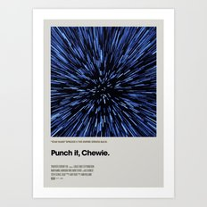 A MOVIE POSTER A DAY: PUNCH IT, CHEWIE. Art Print